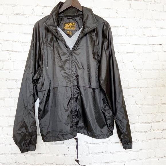 Eddie Bauer Other - Eddie Bauer black raincoat men's breathable hooded